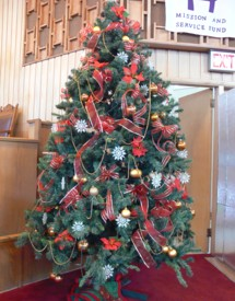 The Christmas tree is a symbol of love and everlasting life.