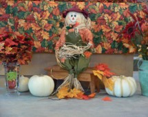 This little guy might be a scarecrow, but he greets everyone who comes to our church with a wonderful smile.