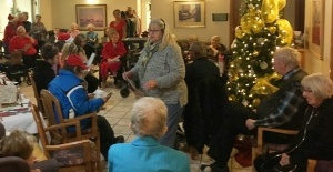 Christmas Caroling at seniors' facilities in Olds December 8, 2018
