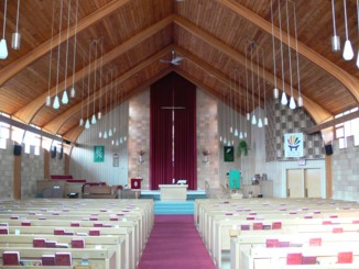 The sanctuary at the Olds United Church is a beautiful and peaceful place to come and connect with your God and yourself.