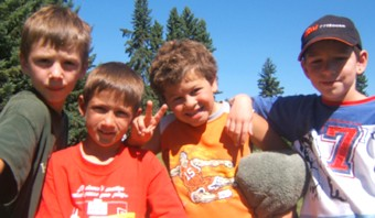 Kids having fun and making new friends at Camp Kasota near Sylvan Lake, Alberta. Click here to visit their website.