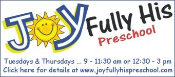 Joyfully His Preschool offers children a faith based environment for spiritual, emotional, social, intellectual and physical growth. Runs at the United Church on Tuesdays and Thursdays. Click here for details.