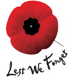 Lest We Forget. Remembrance Day is November 11th.